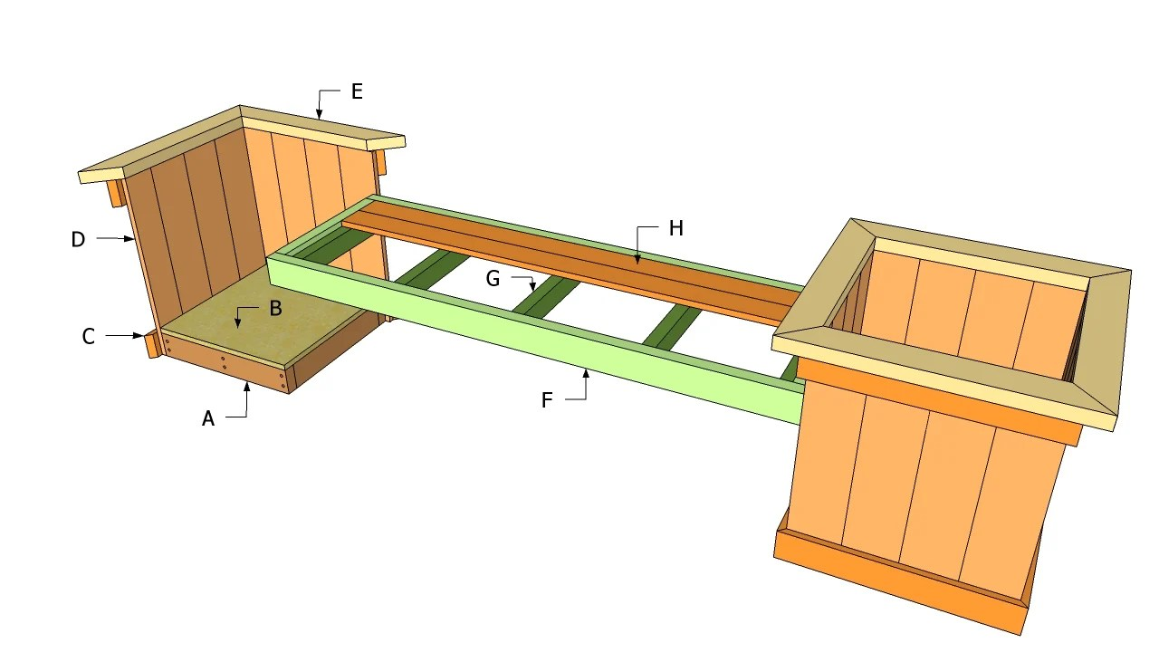 outdoor sitting bench plans
