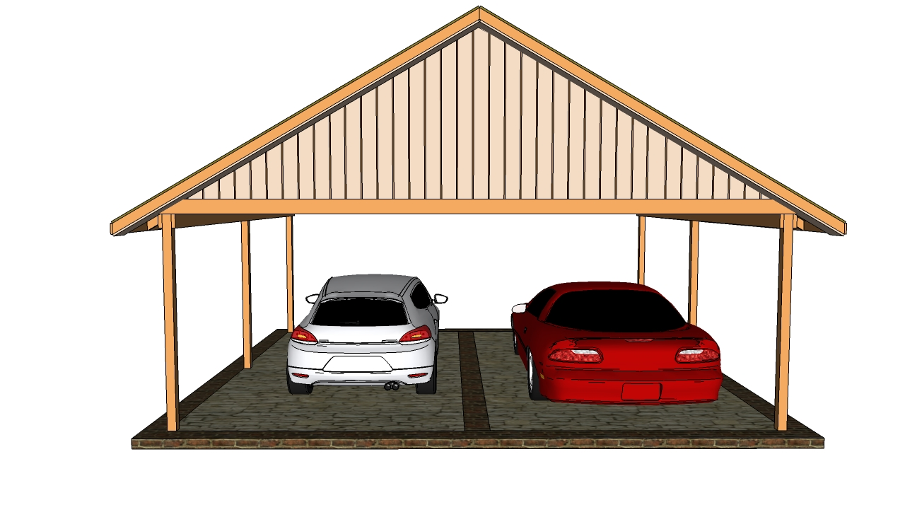Double Carport Plans Myoutdoorplans Free Woodworking Plans And Projects Diy Shed Wooden Playhouse Pergola Bbq