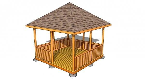 Square Gazebo Plans Myoutdoorplans Free Woodworking