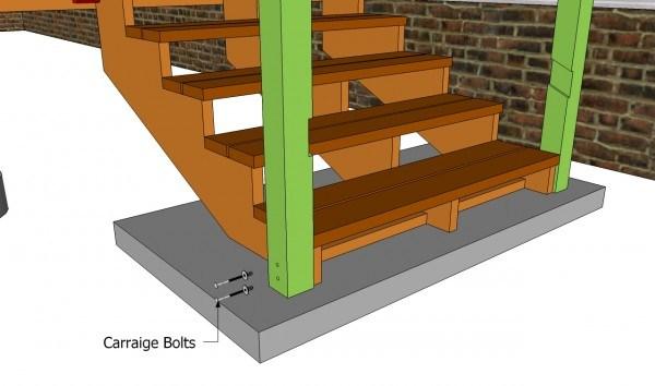 Deck Stair Railing Plans Myoutdoorplans Free Woodworking Plans   Wood Deck Stair Railing   Step   4X4 Deck   Interior   Underneath Bracket   Gray Deck Black