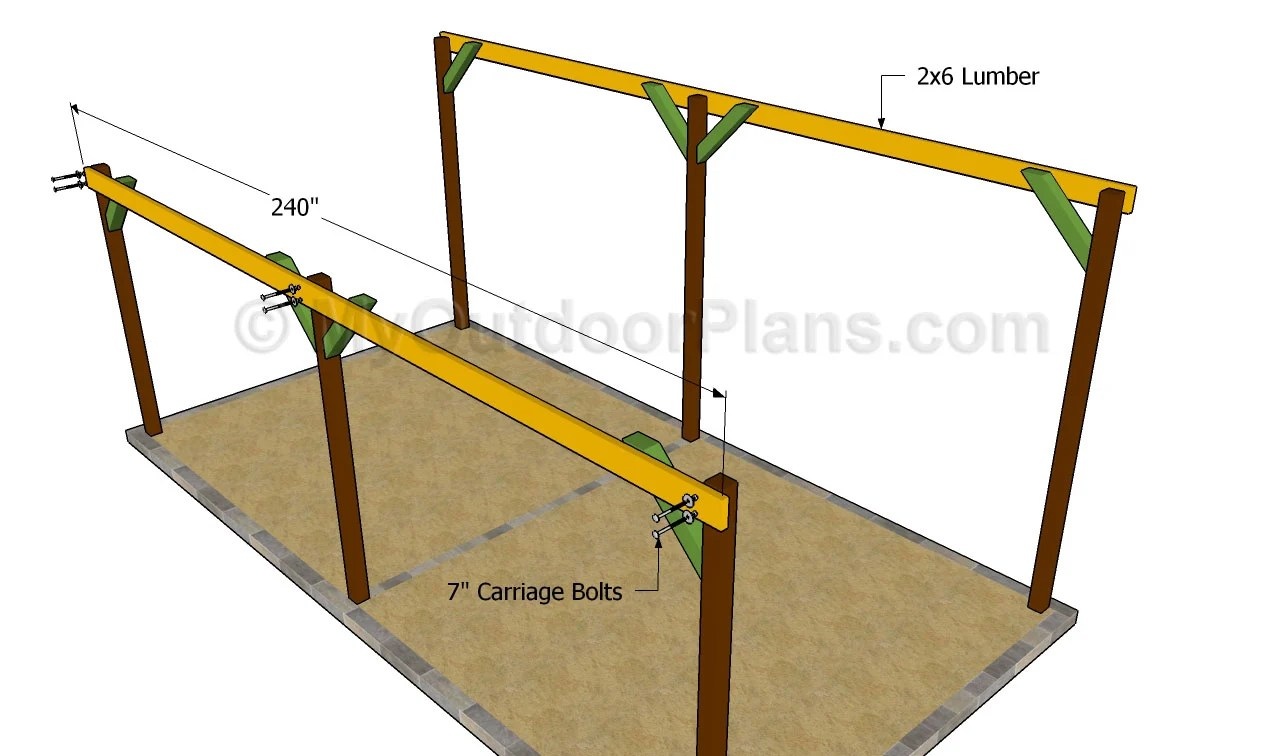 Wooden carports plans inspiration for Timber carport plans