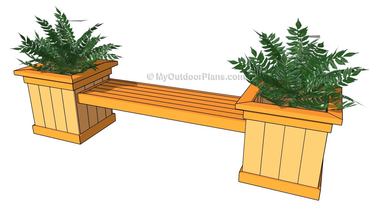 planter box bench seat plans