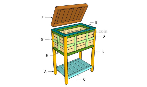outdoor wooden ice chest plans