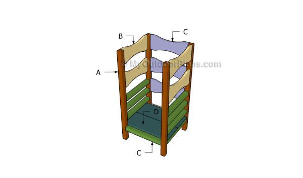 Learning Tower Plans MyOutdoorPlans Free Woodworking