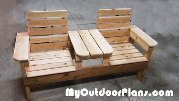 Marvelous Diy Bench Chairs Diy Double Chair Bench Howtospecialist How Lamtechconsult Wood Chair Design Ideas Lamtechconsultcom