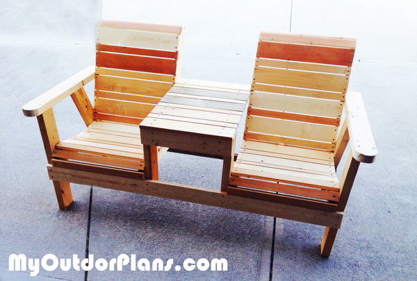 Swell Diy Bench Chairs Diy Double Chair Bench Howtospecialist How Pabps2019 Chair Design Images Pabps2019Com