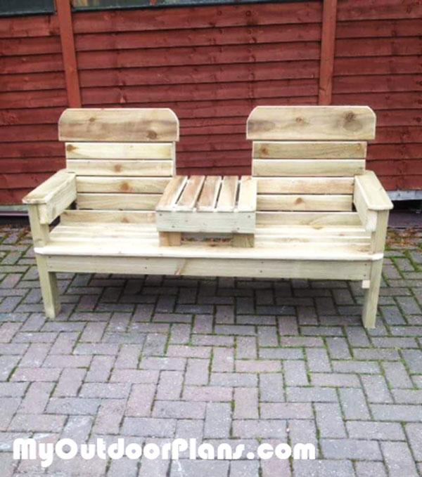 Strange Diy Bench Chairs Diy Double Chair Bench Howtospecialist How Lamtechconsult Wood Chair Design Ideas Lamtechconsultcom