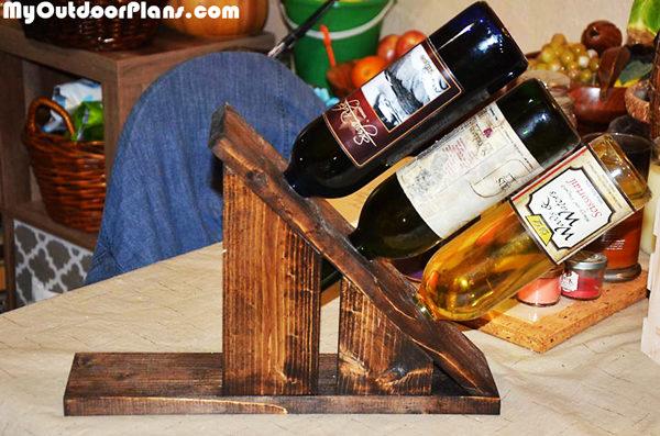 Diy Wine Holder For 3 Bottles Myoutdoorplans Free
