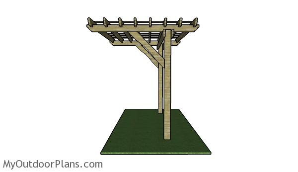 2 Post Pergola Plans | MyOutdoorPlans | Free Woodworking Plans and Projects, DIY Shed, Wooden