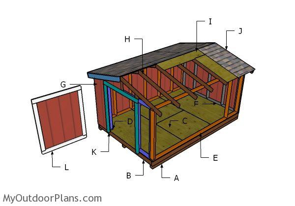 8x12 Short Shed Roof Plans Myoutdoorplans Free