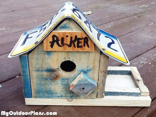 Diy License Plate Bird House Myoutdoorplans Free