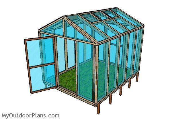 8x10 Wood Greenhouse Plans Myoutdoorplans Free