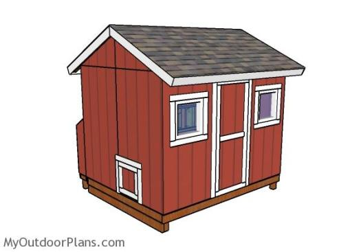 Large chicken coop shed plans