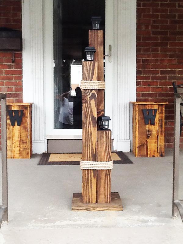 DIY Wood Nautical Lamp Post MyOutdoorPlans Free