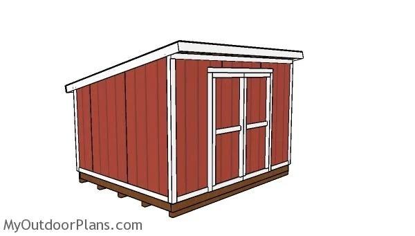8x8 lean shed roof plans myoutdoorplans free, 10x12 pergola roof plans
