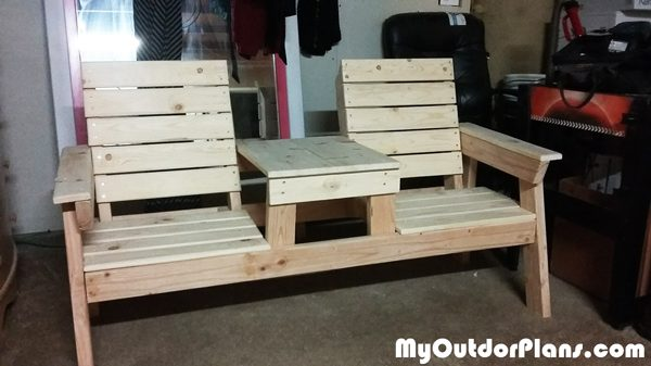 Diy Double Chair Bench With Table Plans Myoutdoorplans