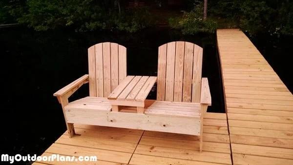 Diy Adirondack Bench With Table Myoutdoorplans Free
