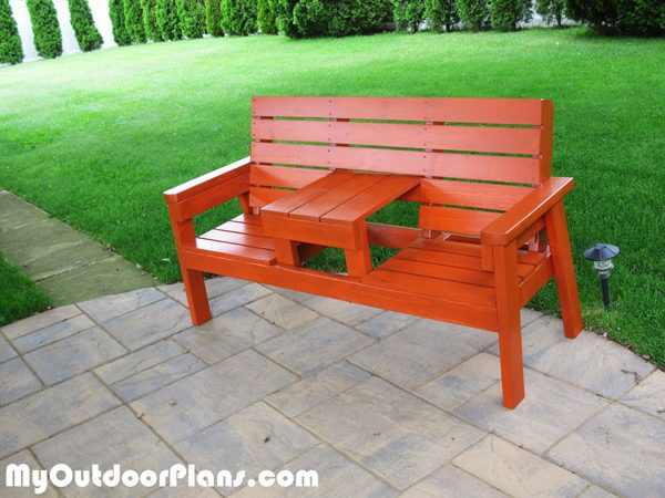 DIY Outdoor Bench With Seat MyOutdoorPlans Free