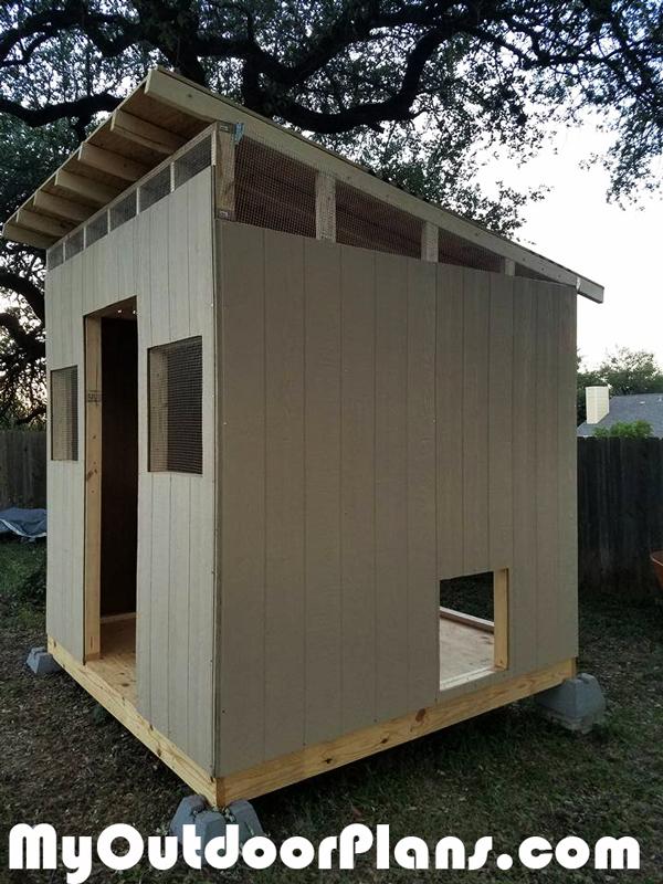 Diy Large Lean To Chicken Coop Myoutdoorplans Free
