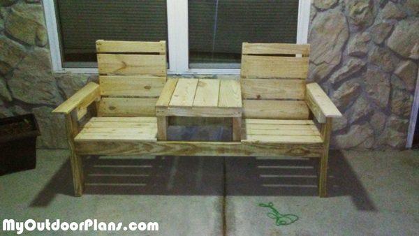 Diy Pallet Double Chair Bench Myoutdoorplans Free