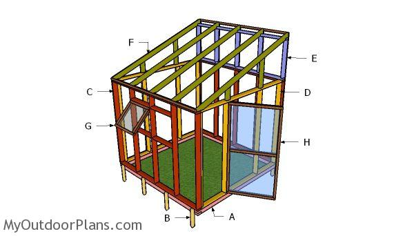 8x8 Lean To Greenhouse Roof Plans Myoutdoorplans Free
