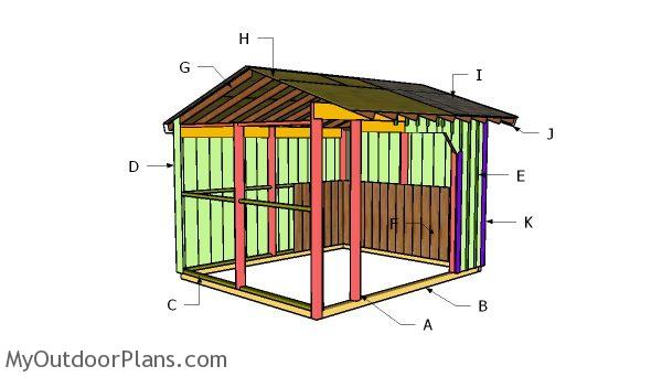 10x12 Run In Shed Roof Plans MyOutdoorPlans Free