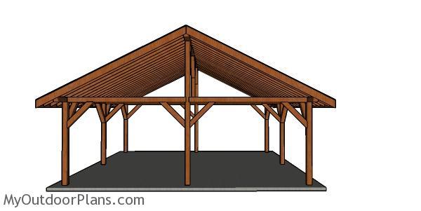 24x24 Outdoor Pavilion Free Diy Plans Myoutdoorplans