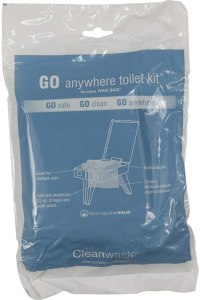 Go Anywhere Toilet Kit Portable Toilet Waste Bags - Best Camping Toilet Bags With Gel