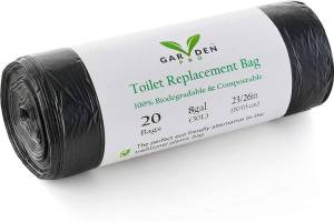 Portable Toilet Replacement Bags - 100% Compostable & Biodegradable Toilet Bags for Camping