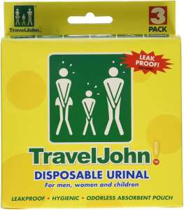 TravelJohn Disposable Urinal - best disposable urine bags with gel