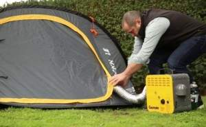 Tent heater for camping