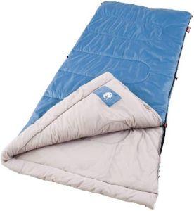 Coleman Sun Ridge Warm Weather Sleeping Bag for Camping in 40°F