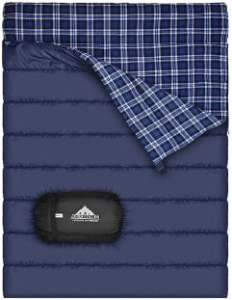 Flannel Lined Double Sleeping Bag for Camping