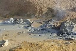Boiling mud pools