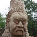 Faces at Angkor Thom South Gate (Evil)