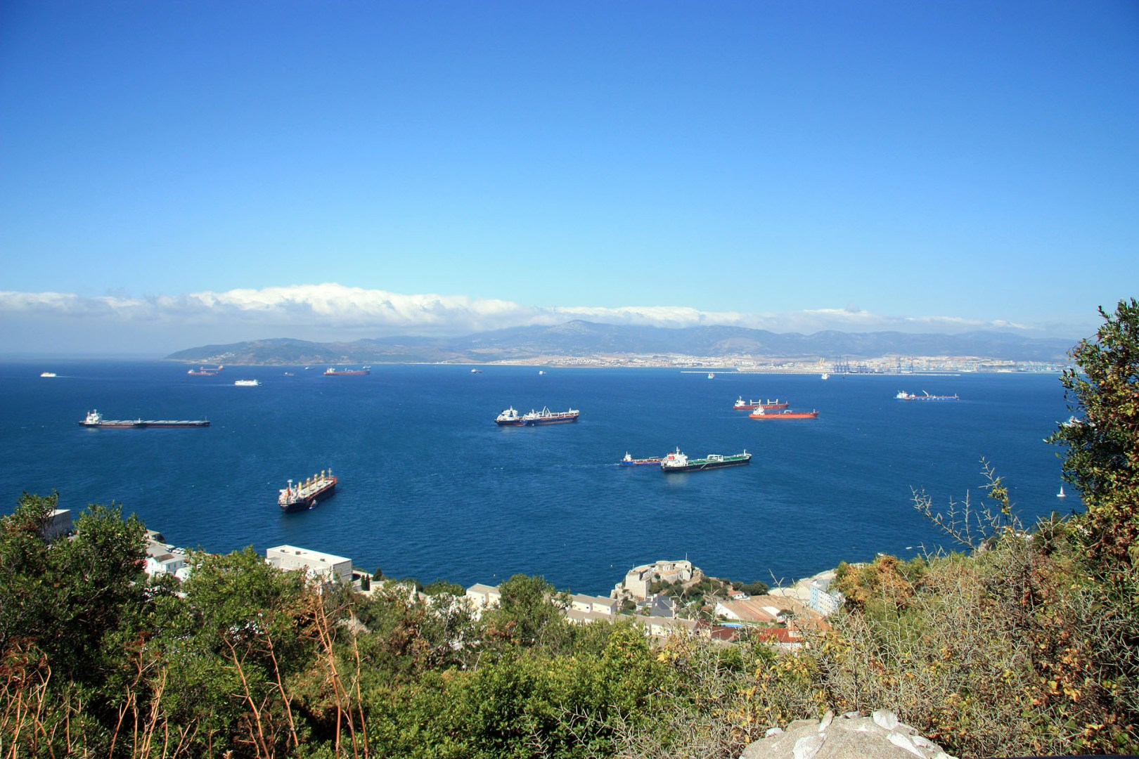 View over the Bay of Gibraltar