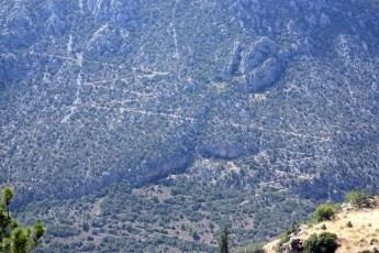 Zig-zag road-Ancient Delphi