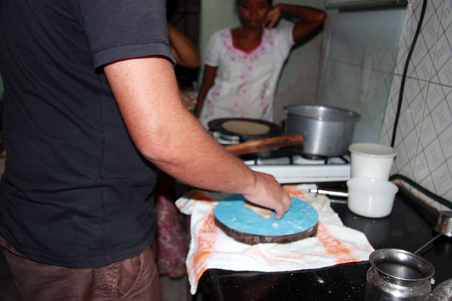 Rolling Chapatis