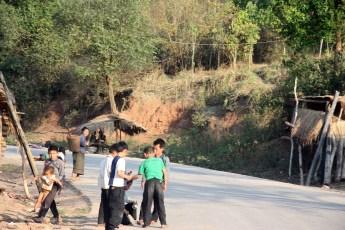 Kids playing roadside