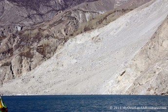 Attabad Lake - Land Slide Area