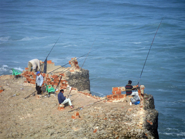 Fishermen On Cliffs - Azenhas do Mar