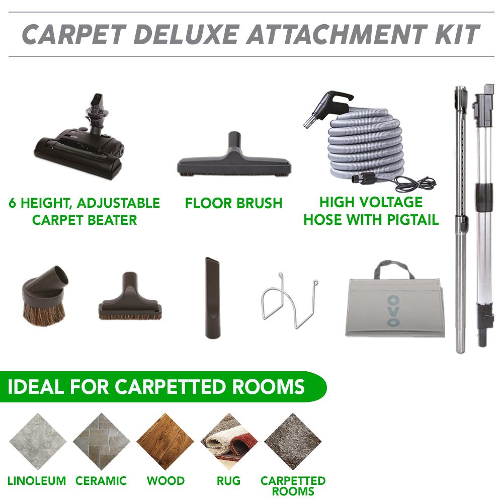 High-Voltage Carpet central vacuum kit