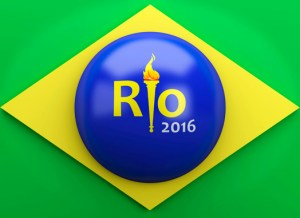 3d Rio 2016. Brazil summer olympic games concept.