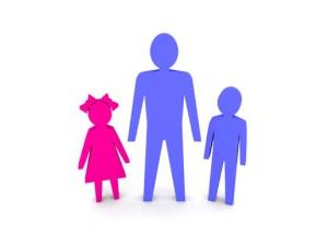 man, children, single, parent