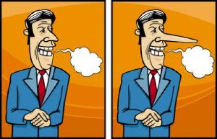 insincere politician cartoon