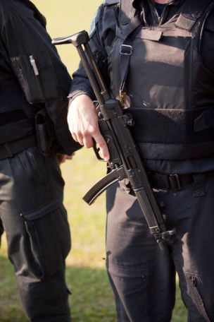 policeman armed