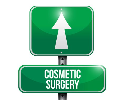cosmetic surgery road sign i