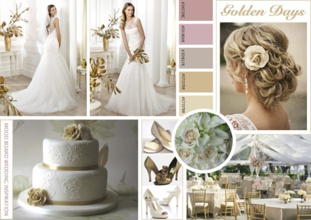 "Mood board – Bryllup: ""Golden Days"""