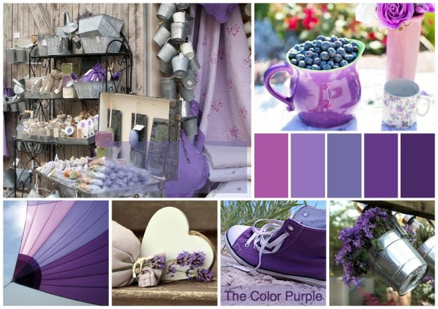 "Mood board – Udendørs: ""The Color Purple"""