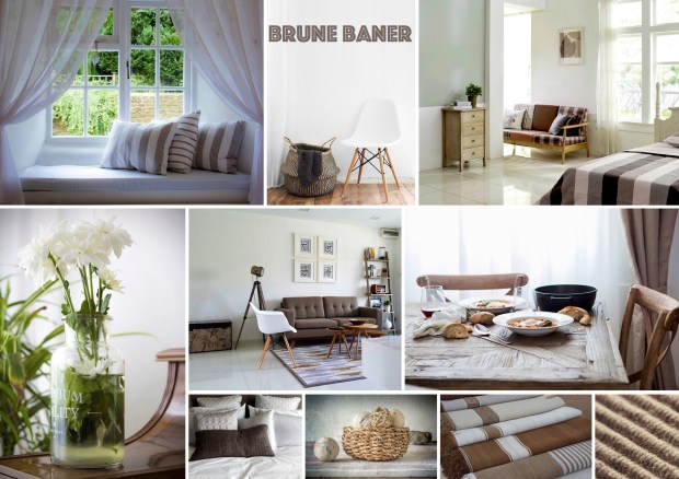 "Mood board – Bolig: ""Brune baner"""